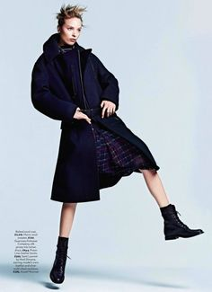 Makeup by Cynthia Sobek for Marie Claire UK