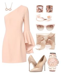 Rose Tones by romar66 on Polyvore featuring polyvore, fashion, style, Exclusive for Intermix, Massimo Matteo, Oscar de la Renta, Michael Kors, Carolee, Kate Spade and clothing