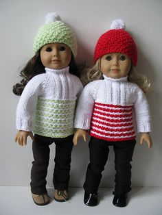 "Ravelry: White & Color 18"" doll Ski Set pattern by Vita"
