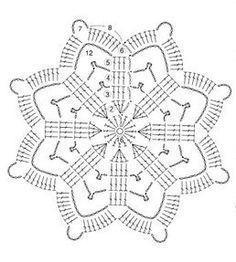 gömb 5 - Her Crochet Motif Mandala Crochet, Crochet Snowflake Pattern, Crochet Mandala Pattern, Crochet Stars, Crochet Snowflakes, Crochet Flower Patterns, Crochet Diagram, Thread Crochet, Crochet Flowers