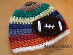 Free+Crochet+Football+Hat+Pattern   Free Pattern Friday: Football-Inspired Projects, Valentine Crafts ...