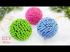 🎄 НОВОГОДНИЕ ШАРЫ ИЗ ФЕТРА 🎄 Felt Christmas Ornaments 🎄 - YouTube Christmas Ornament Crafts, Rose Art, Foam Crafts, Xmas Tree, I Fall In Love, Decoration, Crochet Earrings, Crafts For Kids, Embroidery