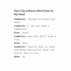 How City of Bones went | Isabelle and Alec | Clary and Jace | Lion King Reference