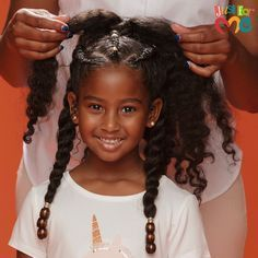 Make her next styling session all smiles and no shade with our Natural Hair Milk Leave-In Detangler! Black Kids Hairstyles, Natural Hairstyles For Kids, Baby Girl Hairstyles, Everyday Hairstyles, Inverted Bob Hairstyles, Fringe Hairstyles, Indian Hairstyles, Quiff Hairstyles, Natural Hair