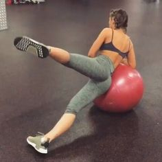 Featuring @meggan_fit_music -  BOOTY WITH A BALL  All you need is a Swiss ball and a fitty of a workout buddy @krissycela  . We finished our glutes sesh with this little circuit of exercises  do them at home or at the gym just grab yourself a ball and you're sorted  .  Side leg lift  Wall lunge Single leg glute lift  Lying locust  We did 12 reps on each exercise and did 4 circuits  #fitspo #workoutvideo #gymvideo #squatvideos #gym_videos #bootyworkout #buttworkout ...