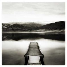 Emigrant Lake Dock II in Black and White Giclee Art Print