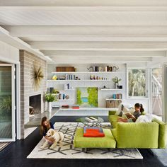 Beautiful clean and crisp, Mid Century Modern living room....