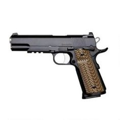 """Dan Wesson 1911 Specialist Government Semi Auto Pistol 9mm Luger 5"""" Barrel 10 Rounds Fixed Night Sights G-10 Grips Stainless Steel Black Duty Finish"""