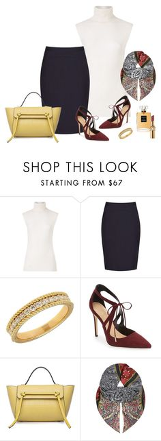 """""""Basic Beauty"""" by picassogirl ❤ liked on Polyvore featuring Diane Von Furstenberg, Reiss, Lord & Taylor, Daya and Yves Saint Laurent"""