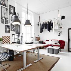 Katrin Bååth | Studio Crush Home Office, Office Desk, Workplace, Corner Desk, Studio Tours, Sweet Home, Loft, Furniture, Work Spaces