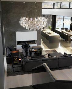 Ålesund • Slettvoll Restaurant, Ceiling Lights, Living Room, Interior Design, Lighting, Table, Design Ideas, House, Home Decor