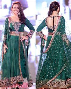 Preity Zinta Bollywood Green Lehenga