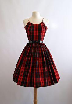 1950's plaid party dress!