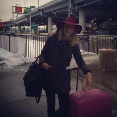 Después de un largo viaje... ¡Aquí estoy! Lista para disfrutar de Nueva York #marialeonstyle #PedrodelHierroMadrid #NYFW14