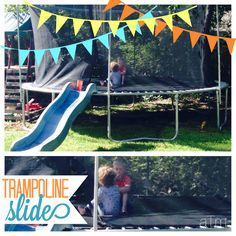 Outdoor Fun!  Add a swing set slide instead of a ladder. It makes a great waterside!  We salvaged this from our broken swing set. Our boys love it!
