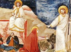 Giotto: Resurrection from the Life of Christ Cycle, 1304. Fresco, Arena Chapel, Padua, Italy.