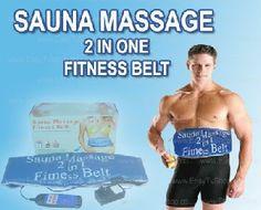 Sauna massage 2 in 1 fitness belt solution for burn fats