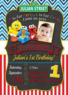 sesame street birthday party invitations - Google Search