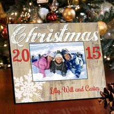 christmas snowflakes picture frame