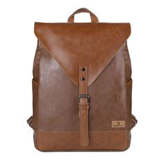 3 Colors Brand PU Leather Business Backpack Laptop Bag Computer Mochila  Male Bag Backpack for 14 55f061d57c6de