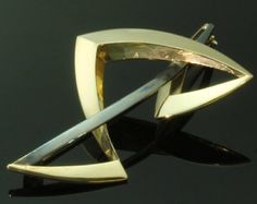 Artist Jewelry Gold and Silver Brooch by Chris Steenbergen ref.13262-0095
