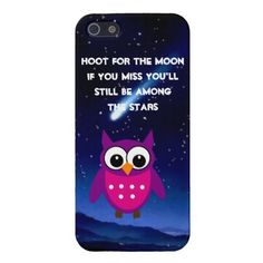 HOOT for the Moon Owl  iPhone 5 Case  #owls #iphonecases #iphone5cases  reach for your dreams