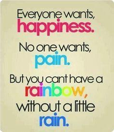#happiness #pain #rainbow #rain .