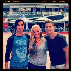 Jordan Rodrigues, Alicia Banit and Tim Pocock