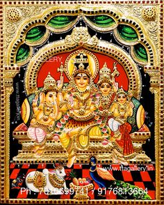Original hand made tanjore paintings Lord Shiva Hd Images, Shiva Lord Wallpapers, Indian Gods, Indian Art, Online Art Store, Saraswati Goddess, Pooja Room Door Design, Lakshmi Images, Lord Shiva Family