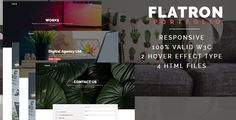 Buy Flatron - Responsive Portfolio HTML Template by igdepe on ThemeForest. Flatron is a responsive portfolio HTML template which designed focus to introduce your projects or design to your aud. Html Website Templates, Free To Use Images, How To Introduce Yourself, Two By Two, Template Portfolio, Script, Smooth, Type