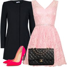 dress by gessilene-mee on Polyvore featuring moda, ONLY, Christian Louboutin and Chanel