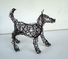 Unique Wire Dog Sculpture by Nakisha  SAMI by wireanimals on Etsy
