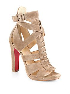 Christian Louboutin - Kenny Suede Platform Sandals