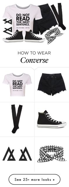 """Untitled #965"" by xxxmakeawish on Polyvore featuring T By Alexander Wang, Aéropostale, SCENERY and Converse"