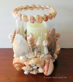 Seashell Hurricane Votive Knockoff is featured in Bowdabra Feature Friday Favorite Five..!! #DIY