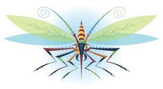 This insect is a combination of various insects that either annoy me or I think look cool.