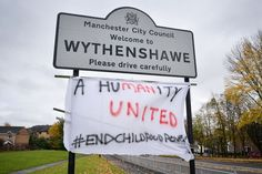 A new sign has appeared in Wythenshawe dedicated to Marcus Rashford and it captures the mood of the nation - Manchester Evening News Marcus Rashford, Good Luck To You, Poor Children, City Council, Another Man, Man United, School Holidays, One Team, New Sign
