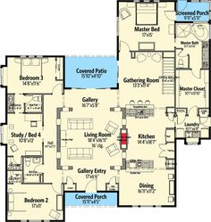 A Texas-Style Ranch - 12527RS | Cottage, Country, Hill Country, Ranch, 1st Floor Master Suite, Jack & Jill Bath, MBR Sitting Area, PDF, Split Bedrooms | Architectural Designs