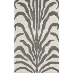 Safavieh Cambridge Leah Hand-Tufted Wool Area Rug, White