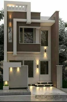 House Outer Design, Modern Small House Design, House Outside Design, Modern Exterior House Designs, Contemporary House Plans, House Front Design, Modern Architecture House, Narrow House Designs, Latest House Designs