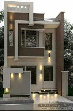 House Outer Design, Modern Small House Design, Modern Exterior House Designs, Contemporary House Plans, House Front Design, Narrow House Designs, Latest House Designs, Architect Design House, Bungalow House Design