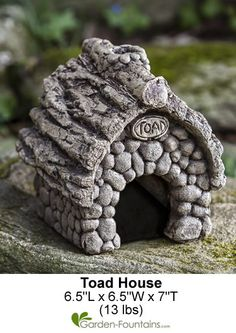Toad House, they eat tons of bugs and are also nice to have around.