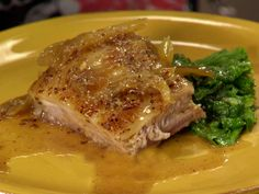Crispy Mustard Braised Pork Belly Recipe : Anne Burrell : Food Network - FoodNetwork.com