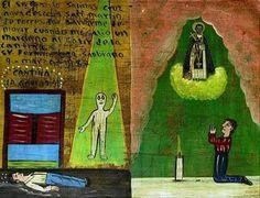 Alien abduction: remarkable!  El sr. Camilo Salinas Cruz agradesce a san martin de porres por salvarme de morir cuando me salio un marciano al salir de la cantina.  sr. Fermin Luna Sanbrano 9 – marzo – 1987