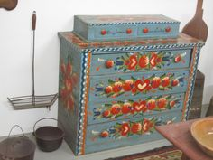 old painted chest   Flickr - Photo Sharing!