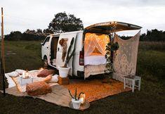 Dreamy van life scene
