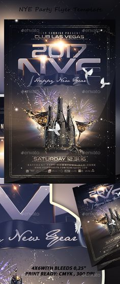 Buy NYE Party Flyer by Stormclub on GraphicRiver. NYE Party Flyer This poster can also be used for a new album promotion or other advertising purposes. Club Poster, Party Poster, Gig Poster, Nye Party, Party Flyer, Flyer Template, School Template, Advertising Design, Advertising Poster