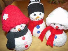 Socken-Schneemänner