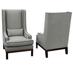 Pair of Large Club Chairs by Thad Hayes Design   From a unique collection of antique and modern lounge chairs at https://www.1stdibs.com/furniture/seating/lounge-chairs/