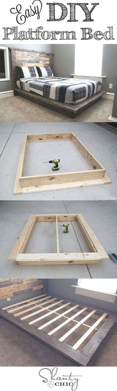 Best DIY Projects: Easy DIY Platform Bed that anyone can build! Best DIY Projects: Easy DIY Platform Bed that anyone can build! The post Best DIY Projects: Easy DIY Platform Bed that anyone can build! appeared first on Bett ideen. Diy Furniture Projects, Cool Diy Projects, Building Furniture, Project Ideas, Bedroom Furniture, Weekend Projects, Bedroom Bed, Apartment Furniture, Wood Furniture